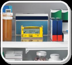 Вариант размещения термоиндикатора Фридж-тэг 2 в холодильнике